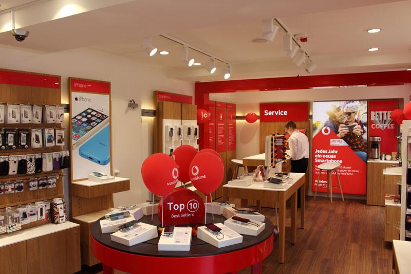 Innenansicht Vodafone Shop Hamburg Gaensemarkt 36 20354 Hamburg
