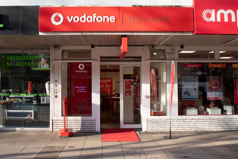 Vodafone Shop Hamburg Eimsbüttel Osterstraße Außenansicht