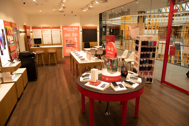 Vodafone Shop Hamburg Wandsbek Quarree Innenansicht