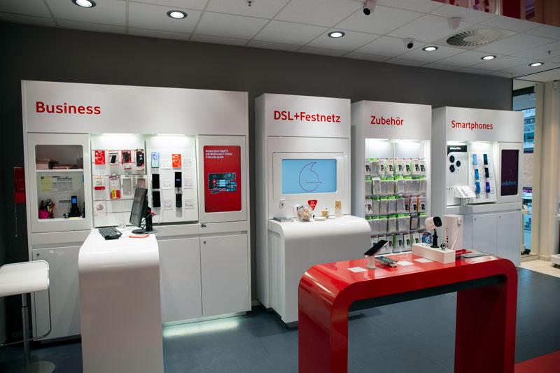 Vodafone Shop Schenefeld Stadtzentrum Kiebitzweg 2 22869 Schenefeld Innenansicht Smartphones Kasse Beratung