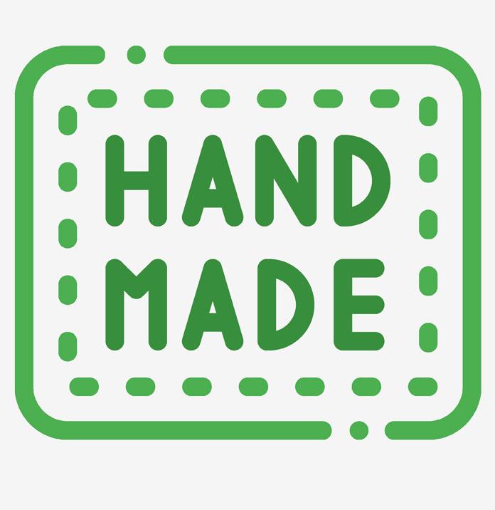 hand gemachtes nachhaltiges zubehör logo