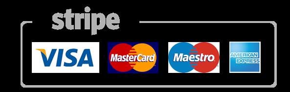 Stripe Kreditkarte Zalungsart Amex Visa Mastercard