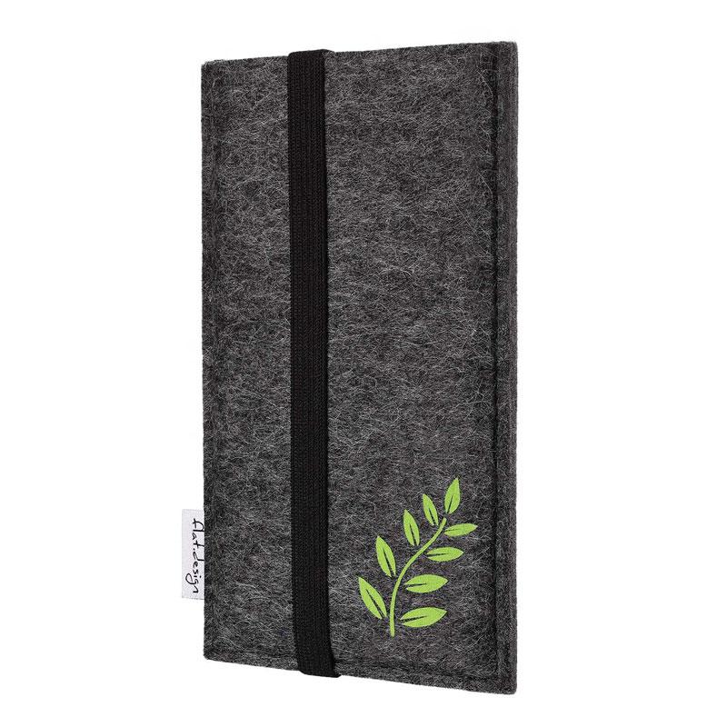 vegane nachhaltige smartphone tasche filz Coimbra floral motiv